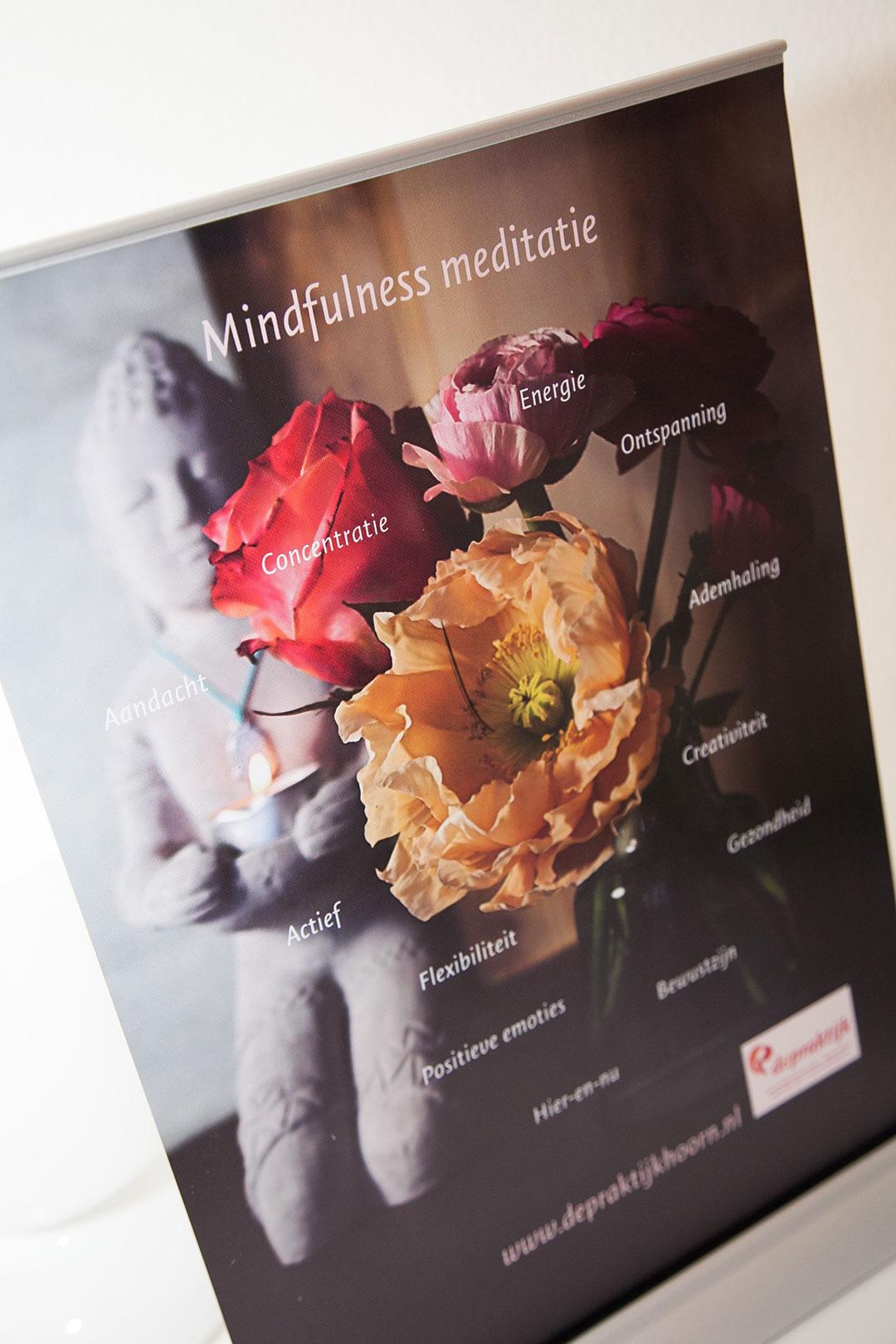 voordelen van mindfulness op een banner